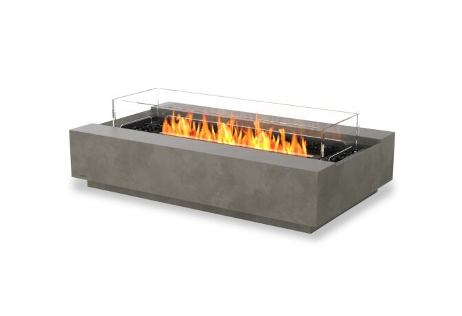 Cosmo 50 Fire Table - Ethanol - Black / Natural / Optional Fire Screen by EcoSmart Fire