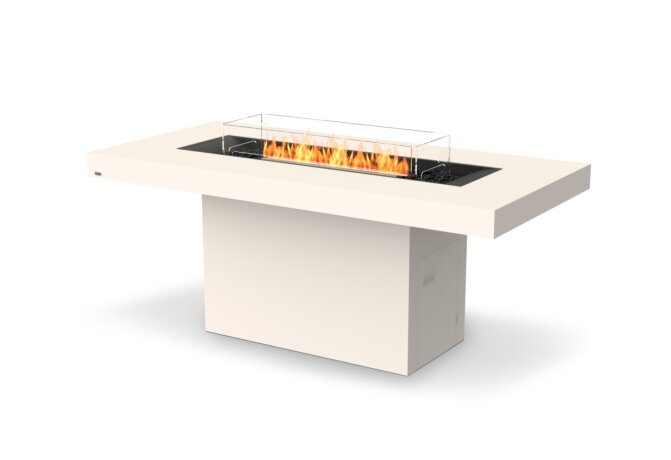 Gin 90 (Bar) Fire Table - Ethanol - Black / Bone / Optional Fire Screen by EcoSmart Fire