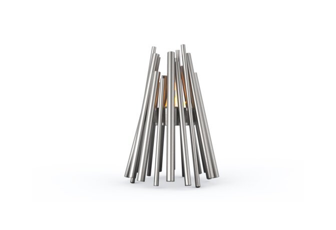 Stix Fire Pit - Ethanol / Stainless Steel by EcoSmart Fire