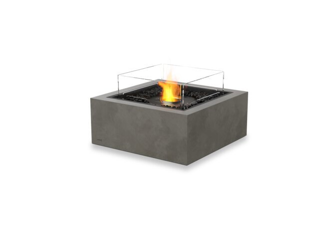Base 30 Fire Table - Ethanol - Black / Natural / Optional Fire Screen by EcoSmart Fire