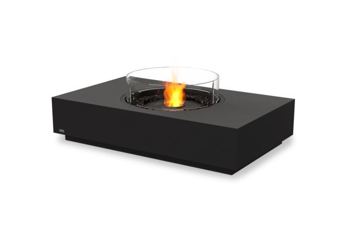 Martini 50 Fire Table - Ethanol - Black / Graphite / Optional Fire Screen by EcoSmart Fire
