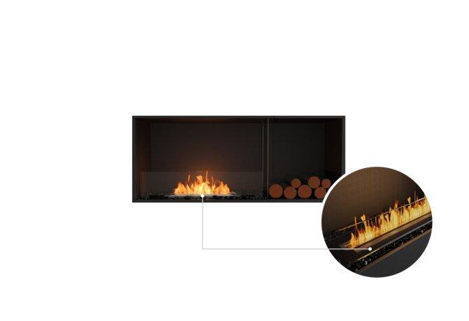 Flex 50SS.BXR Single Sided - Ethanol - Black / Black / Installed View by EcoSmart Fire