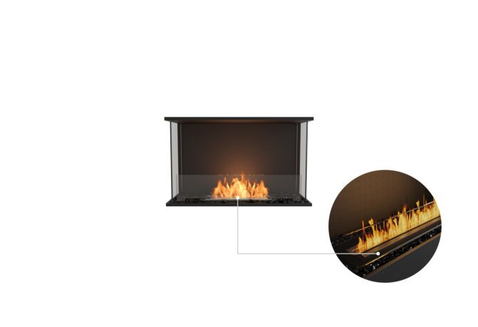 Flex 32 - Ethanol - Black / Black / Installed View by EcoSmart Fire
