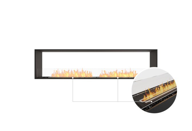 Flex 86DB Double Sided - Ethanol - Black / Black / Installed View by EcoSmart Fire