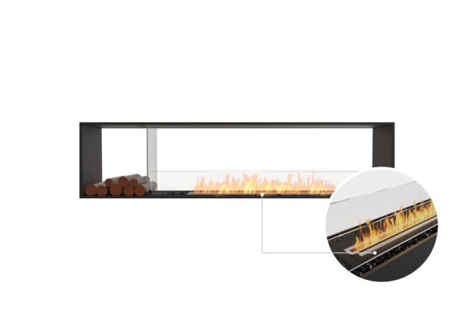 Flex 86DB.BX1 Double Sided - Ethanol - Black / Black / Installed View by EcoSmart Fire