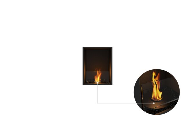 Flex 18SS Single Sided - Ethanol - Black / Black / Installed View by EcoSmart Fire