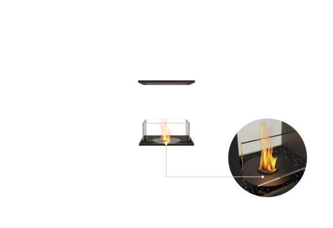 Flex 18IL Island - Ethanol - Black / Black / Installed View by EcoSmart Fire