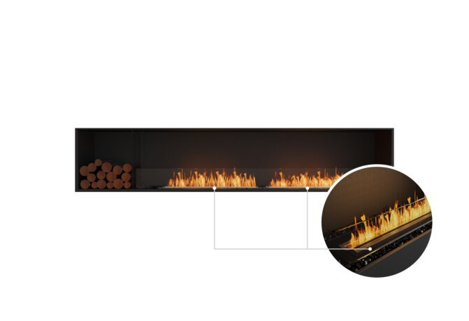 Flex 104SS.BXL Single Sided - Ethanol - Black / Black / Installed View by EcoSmart Fire