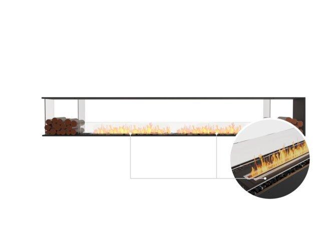 Flex 140PN.BX2 Peninsula - Ethanol - Black / Black / Installed View by EcoSmart Fire