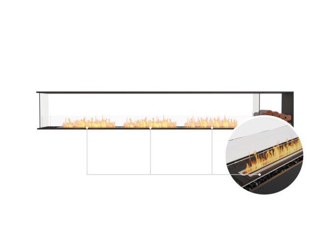 Flex 140PN.BXR Peninsula - Ethanol - Black / Black / Installed View by EcoSmart Fire