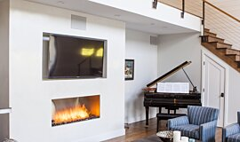 Studio City  Single Sided Fireboxes XL Burners Fireplace Insert Idea