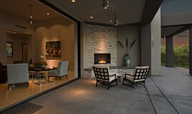 Outdoor Space Outdoor Fireplaces Built-In Fire Idea