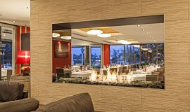 Black Salt Restaurant Hospitality Fireplaces Built-In Fire Idea