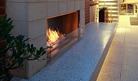 Private Residence Single Sided Fireboxes XL Burners Fireplace Insert Idea