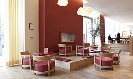 Vapiano, UK  Fireplace Inserts Built-In Fire Idea