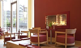 Vapiano, UK Single Sided Fireboxes XL Burners Built-In Fire Idea