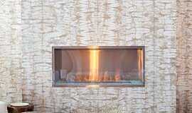W Residence Commercial Fireplaces Built-In Fire Idea