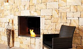 EcoOutdoor Hospitality Fireplaces Built-In Fire Idea
