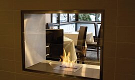 Equinox Restaurant Double Sided Fireboxes Fireplace Insert Idea