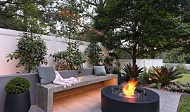 Private Residence Outdoor Fireplaces Fire Table Idea