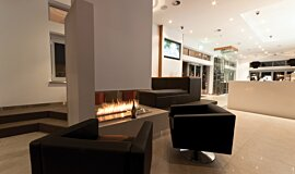 Sirens Bar Hospitality Fireplaces Built-In Fire Idea