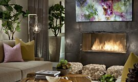 Dream House Single Sided Fireboxes XL Burners Fireplace Insert Idea