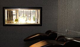 Raw Hair Salon Double Sided Fireboxes Fireplace Insert Idea