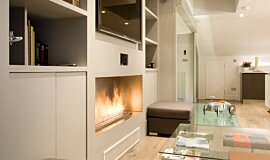 Private Residence Fireplace Inserts Built-In Fire Idea