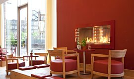 Vapiano, UK Single Sided Fireboxes XL Burners Fireplace Insert Idea