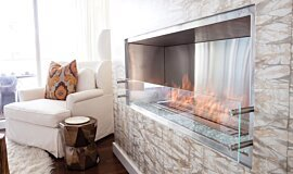 W Residence Fireplace Inserts Built-In Fire Idea