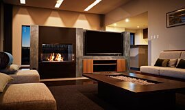 Nozomi Views Commercial Fireplaces Built-In Fire Idea