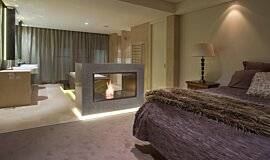 Private Residence Double Sided Fireboxes Fireplace Insert Idea