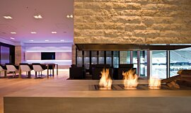 Allianz Arena Commercial Fireplaces Built-In Fire Idea