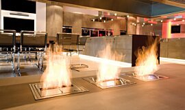 Allianz Arena Hospitality Fireplaces Built-In Fire Idea