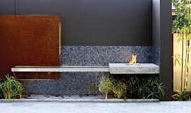 Private Residence Landscape Fireplaces Ethanol Burner Idea