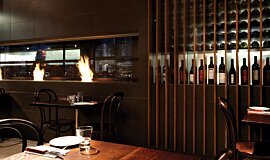 Hurricane's Grill & Bar Commercial Fireplaces Built-In Fire Idea