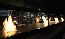 Hurricane's Grill & Bar Indoor Fireplaces Ethanol Burner Idea