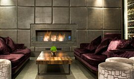 May Fair Bar Hospitality Fireplaces Built-In Fire Idea