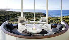Southern Ocean Lodge Hospitality Fireplaces Built-In Fire Idea