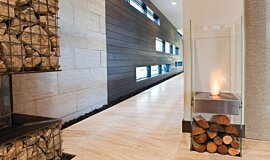 New American Home Indoor Fireplaces 设计壁炉 Idea