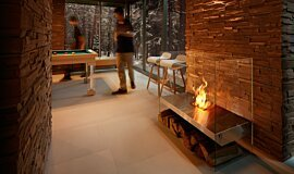 Commercial Space Commercial Fireplaces Freestanding Fire Idea