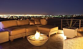 New American Home Outdoor Fireplaces Fire Pit Idea