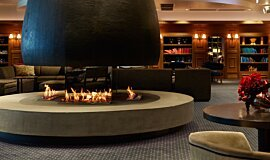 The Estreal Hospitality Fireplaces Built-In Fire Idea