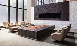 707 Wilshire Los Angeles Hospitality Fireplaces Built-In Fire Idea