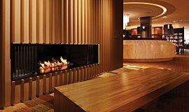 Keio Plaza Hotel Hospitality Fireplaces Built-In Fire Idea