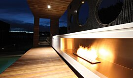Portsea Private Pool Pavilion Landscape Fireplaces Ethanol Burner Idea