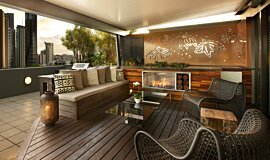 Private Balcony Landscape Fireplaces Ethanol Burner Idea