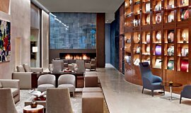 St Regis Hotel Lobby 2 Hospitality Fireplaces Built-In Fire Idea