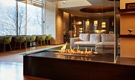Midorinokaze Resort Kitayuzawa Commercial Fireplaces Built-In Fire Idea