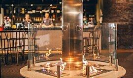 [m]eatery  Hospitality Fireplaces Ethanol Burner Idea